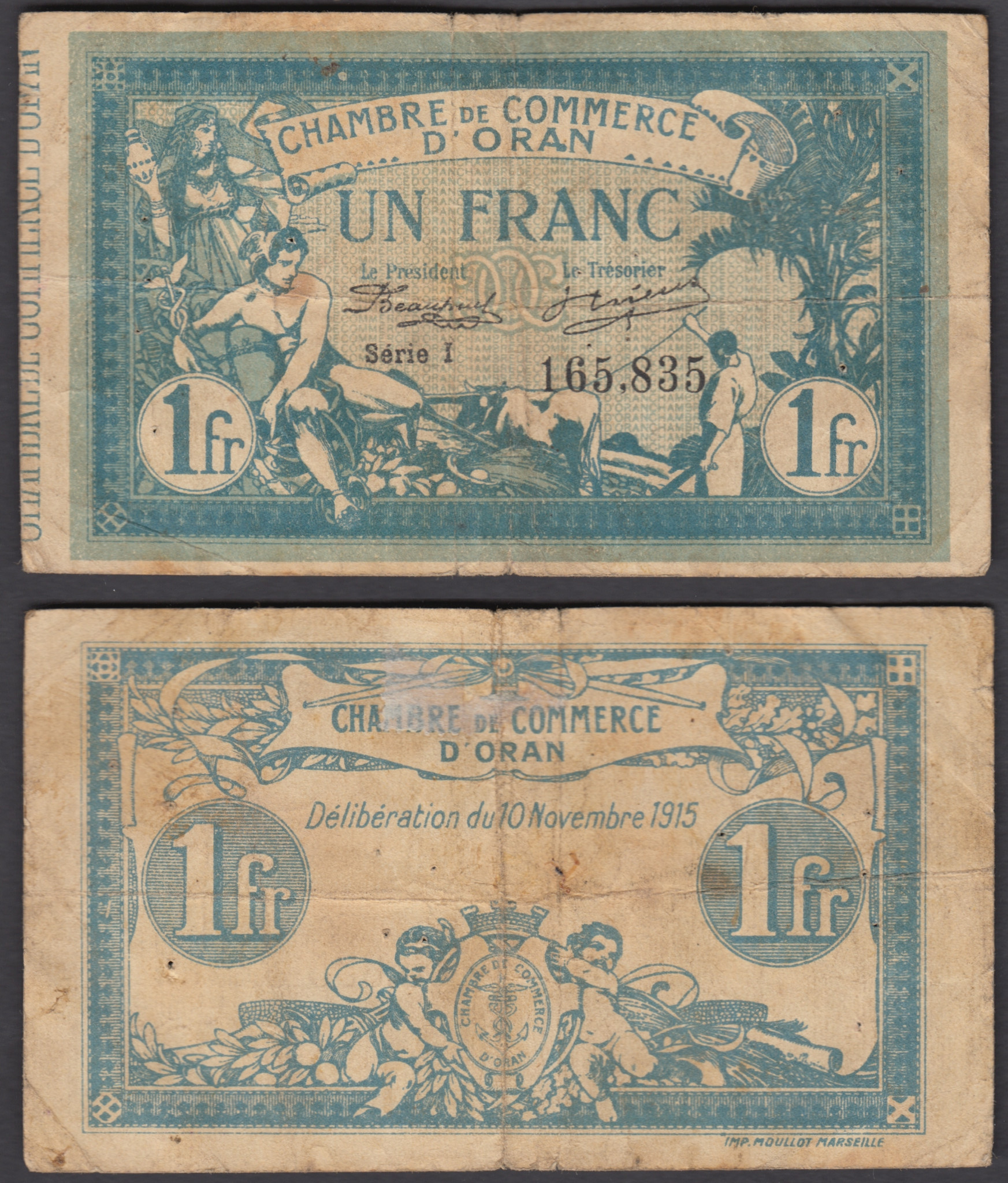 Chambre De Commerce Zimbabwe Details About Algeria 1 Franc 1915 1918 Banknote F Condition Banknote Oran French