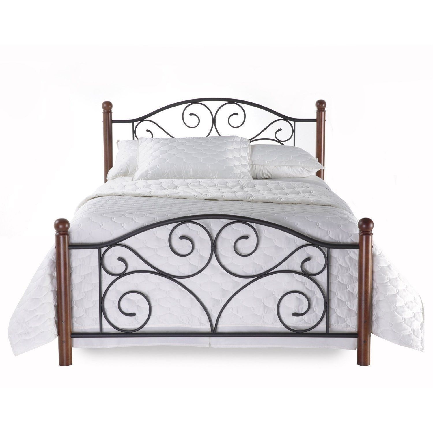 Queen Size Metal Bed Frame New Full Queen King Size Metal Wood Mattress Bed Frame