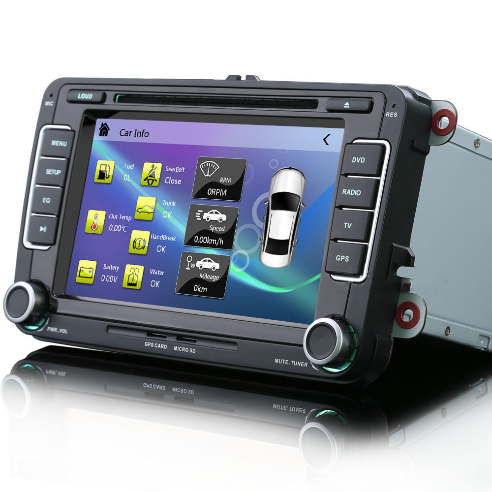 Vw golf mk5 mk6 7 car radio stereo satnav bluetooth ipod usb gps rns510 style ebay