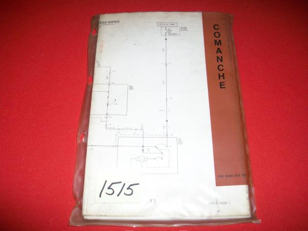1987 JEEP COMANCHE 70 SERIES GROUP OF 8-FACTORY ISSUED WIRING