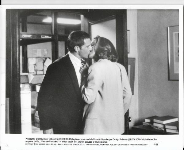 8x10 Hollywood movie pic for Presumed Innocent with Harrison Ford