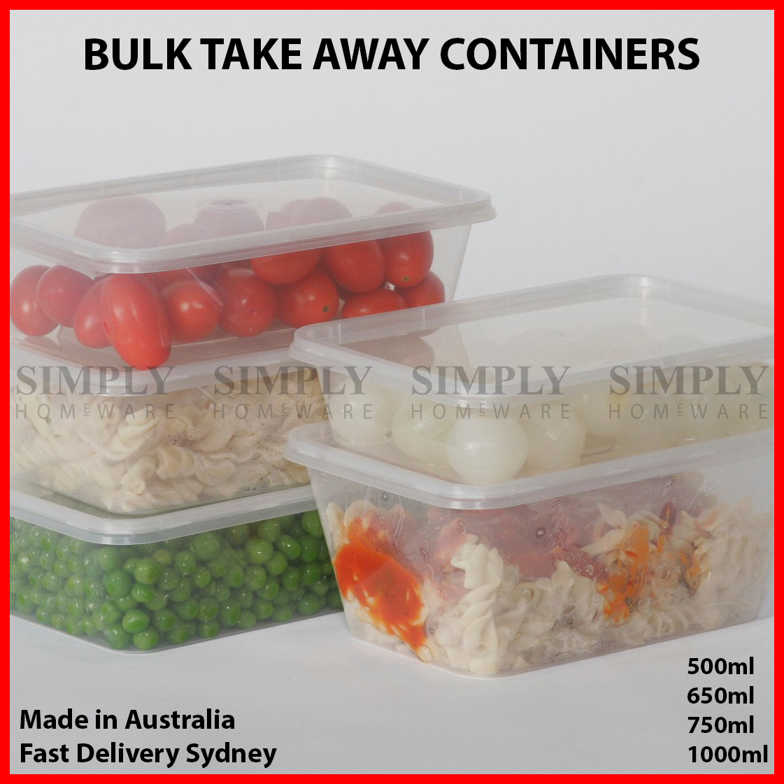 Storage Boxes Sydney Take Away Containers Takeaway Food Plastic Lids Bulk 500ml 650ml