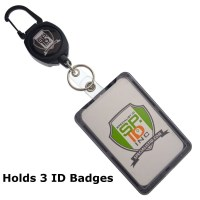 Specialist ID Heavy Duty Retractable Badge Reel with THREE ...