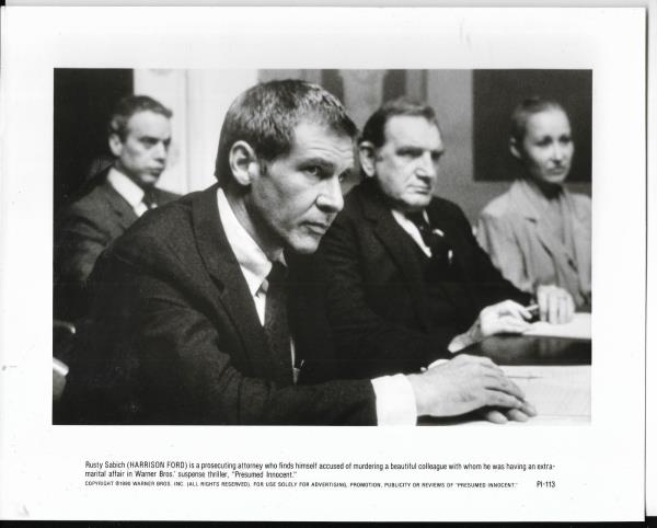 8x10 Hollywood movie pic for Presumed Innocent with Harrison Ford #9 - movie presumed innocent