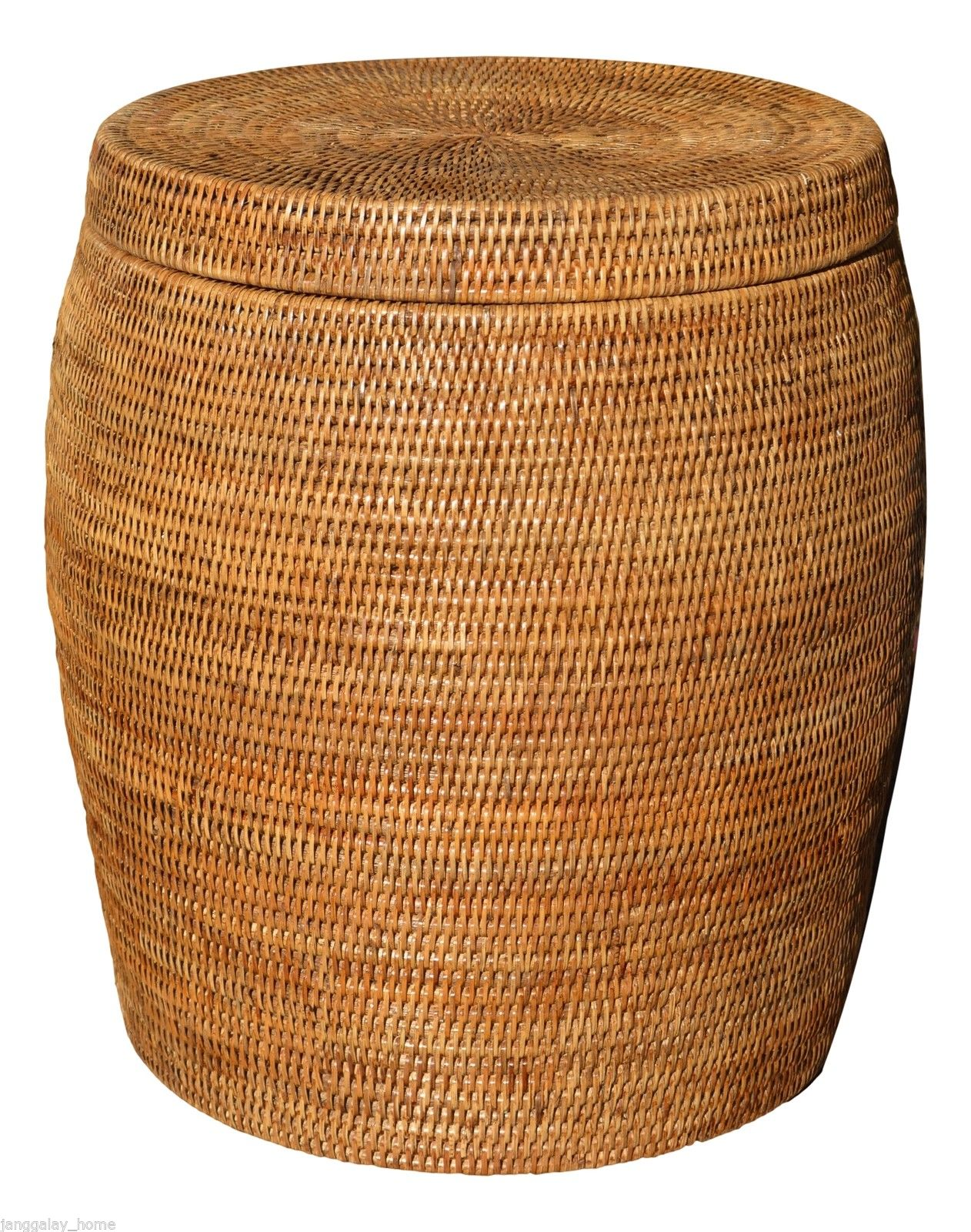Elegant Laundry Hamper Elegant Rattan Drum Stool Side Table Or Laundry Basket