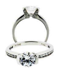 Ritani 1RZ2007ARP 32ct Diamond Engagement Ring in Platinum
