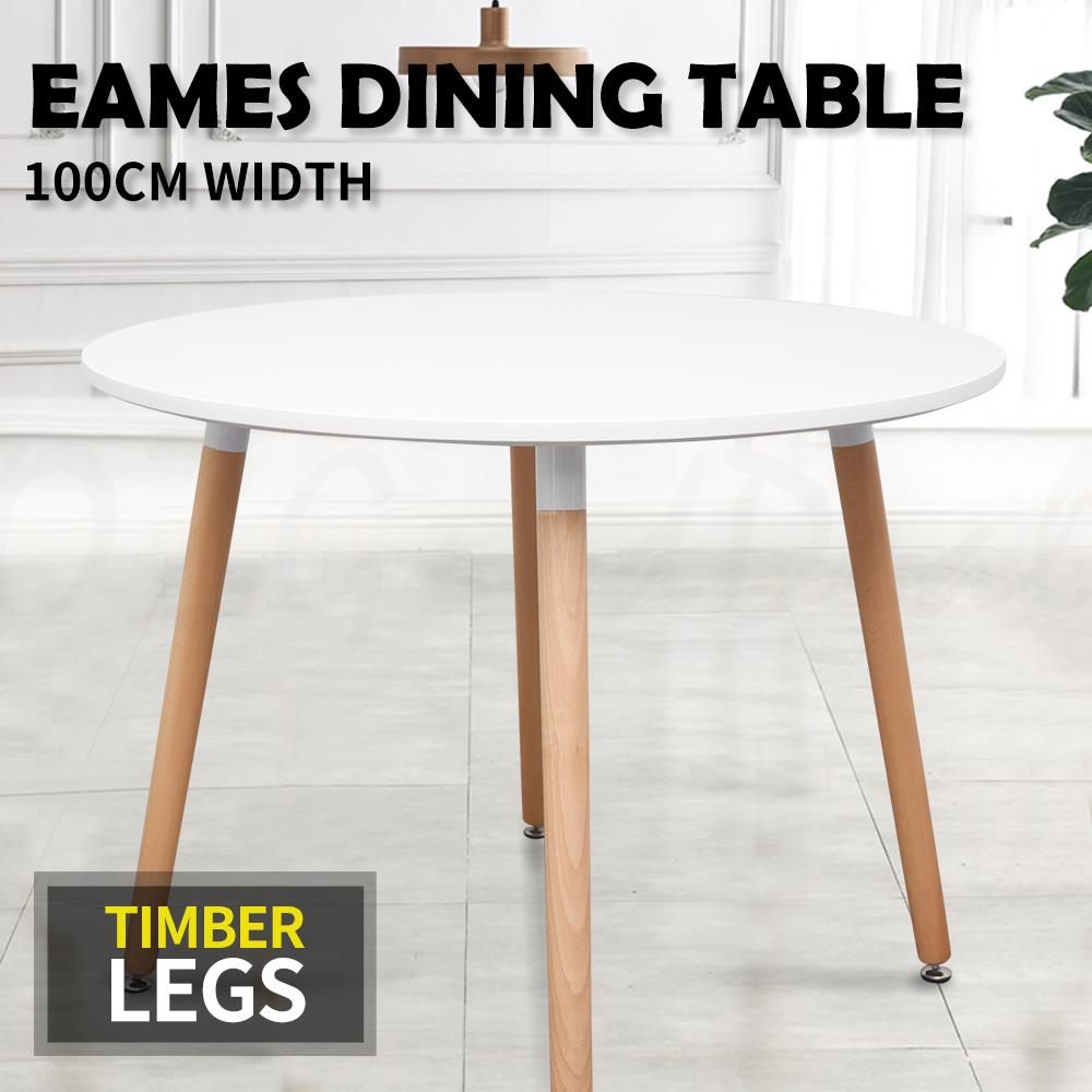 Hairpin Legs Melbourne New Eames Retro Round Dining Table Timber Legs Desk Top 100cm Wide