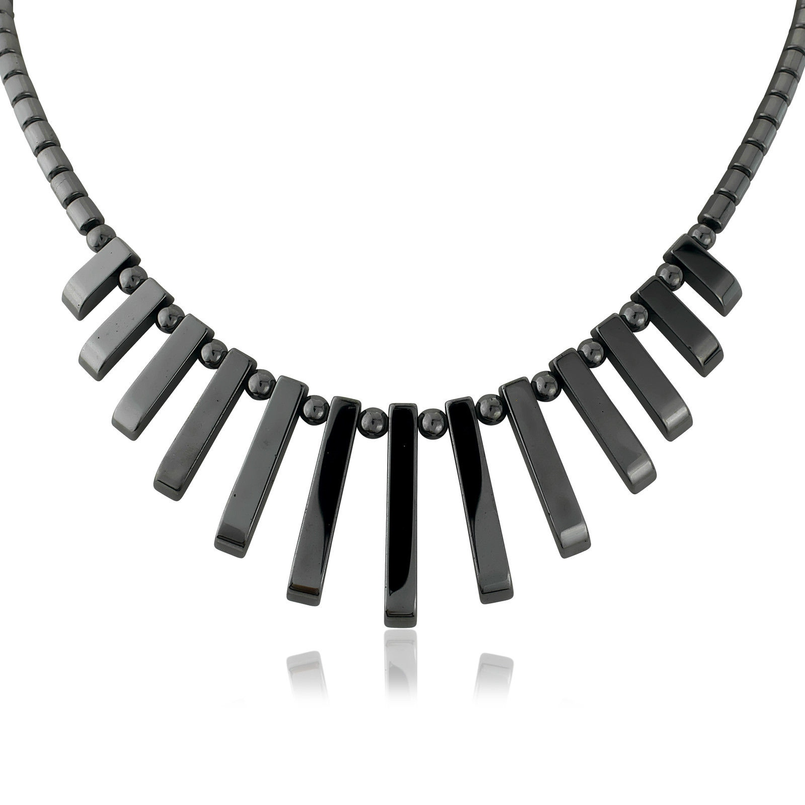 Art Deco Style Earrings Uk Details About Black Gun Metal Choker Necklace Spike Art Deco Style Costume Jewellery Uk Item
