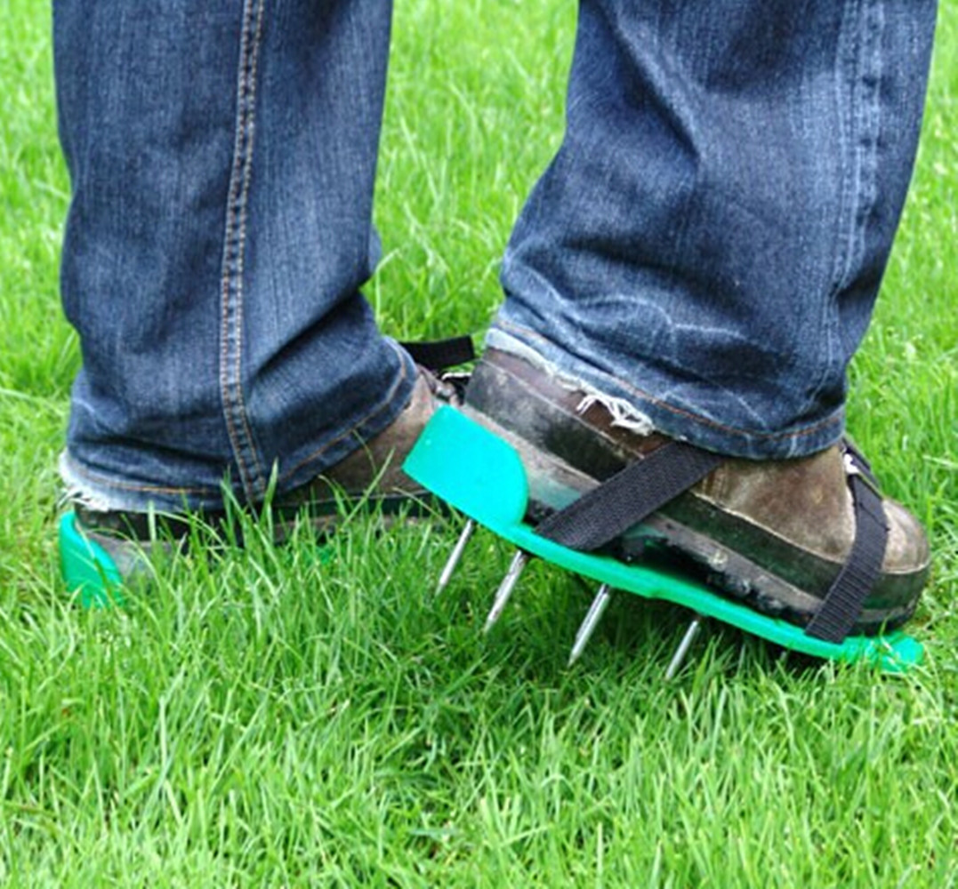 Grass Aerator Details About Lawn Aerator Sandals Shoes Grass Spiked Green Gardening Walking Revitalizing New
