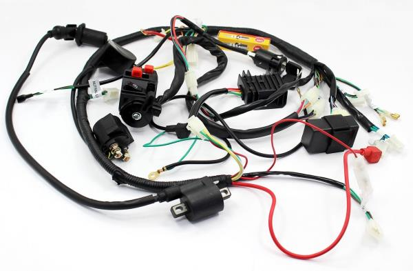 BUGGY WIRING HARNESS LOOM GY6 150cc Chinese Electric start Kandi Go