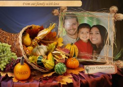 Small Of Happy Thanksgiving Family