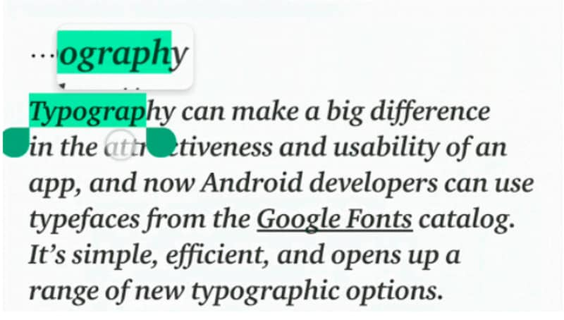 Android P\u0027s Text Magnifier to Make It Easier to Select and Copy Text - p & l template