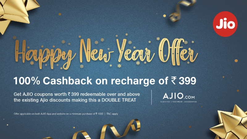 Jio Happy New Year Offer 2019 Gives \u0027100 Percent Cashback\u0027 on Rs