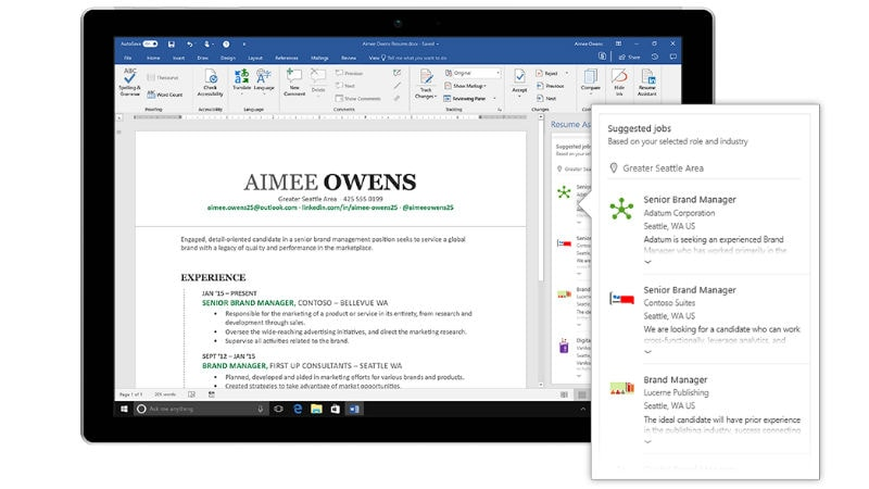 LinkedIn-Powered Resume Assistant for Office 365 Now Available to