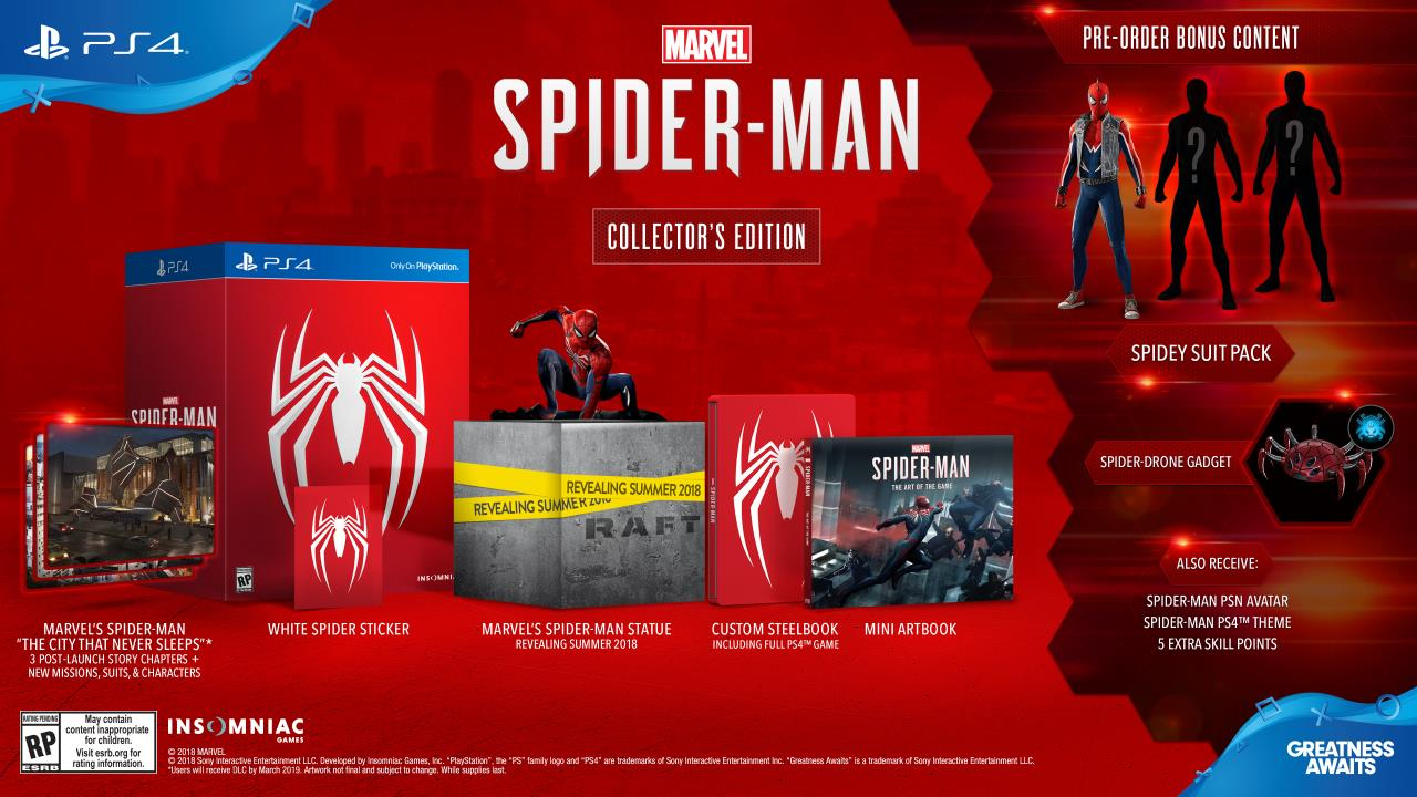 Harga Cat No Drop 2018 Spider Man Ps4 Release Date Price Editions Download Size And
