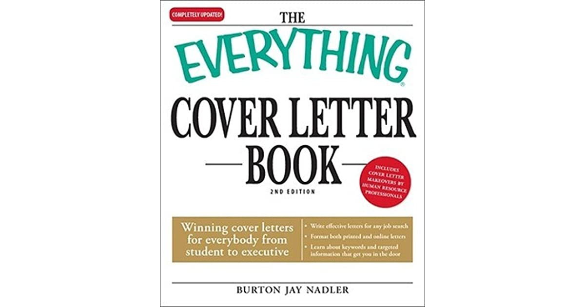 The Everything Cover Letter Book Winning Cover Letters For - winning cover letters