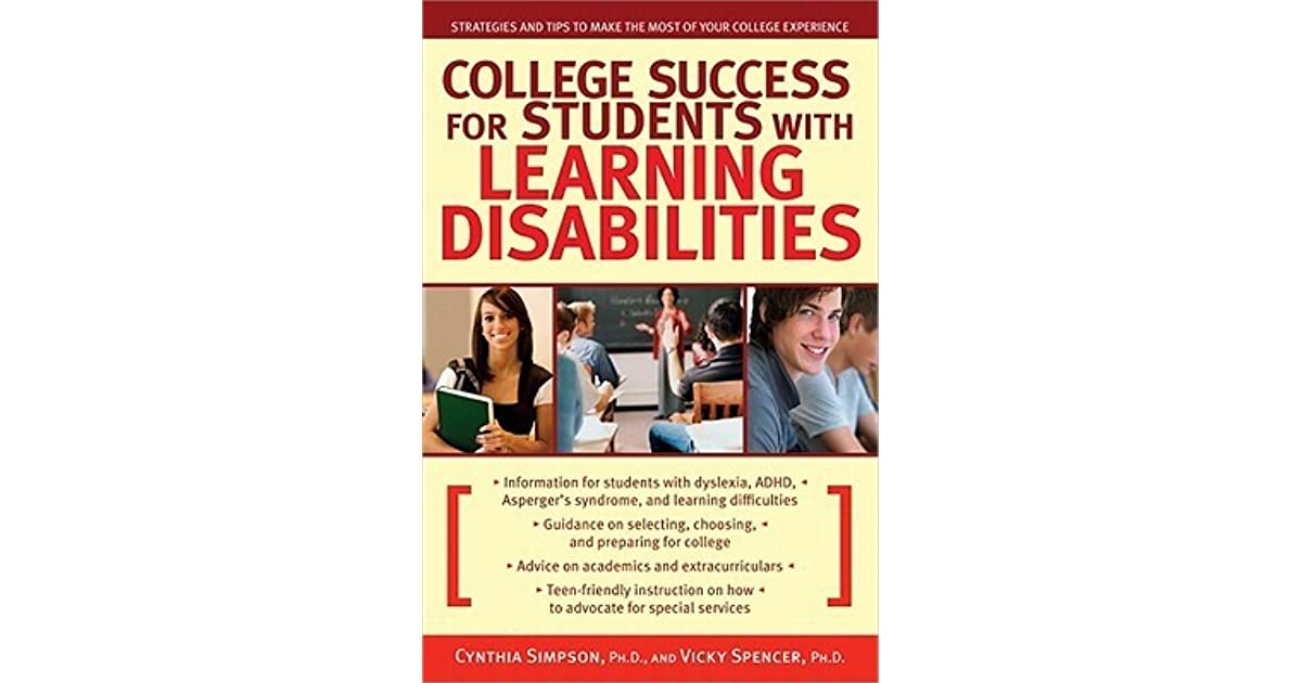 College Success for Students with Learning Disabilities Strategies
