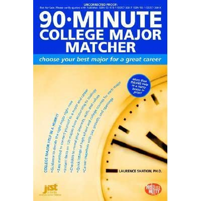 90-Minute College Major Matcher Choose Your Best Major for a Great