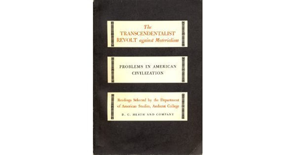 The Transcendentalist Revolt by George F Whicher