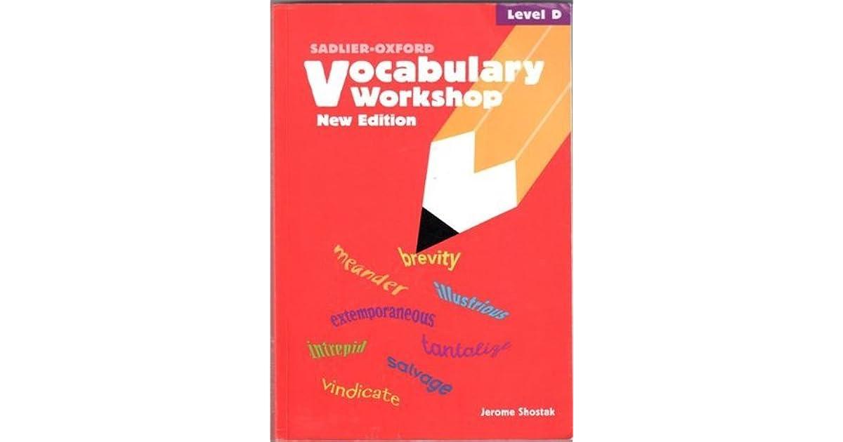 HOMEWORK HAWK VOCABULARY WORKSHOP LEVEL D - vocabulary workshop level d answers