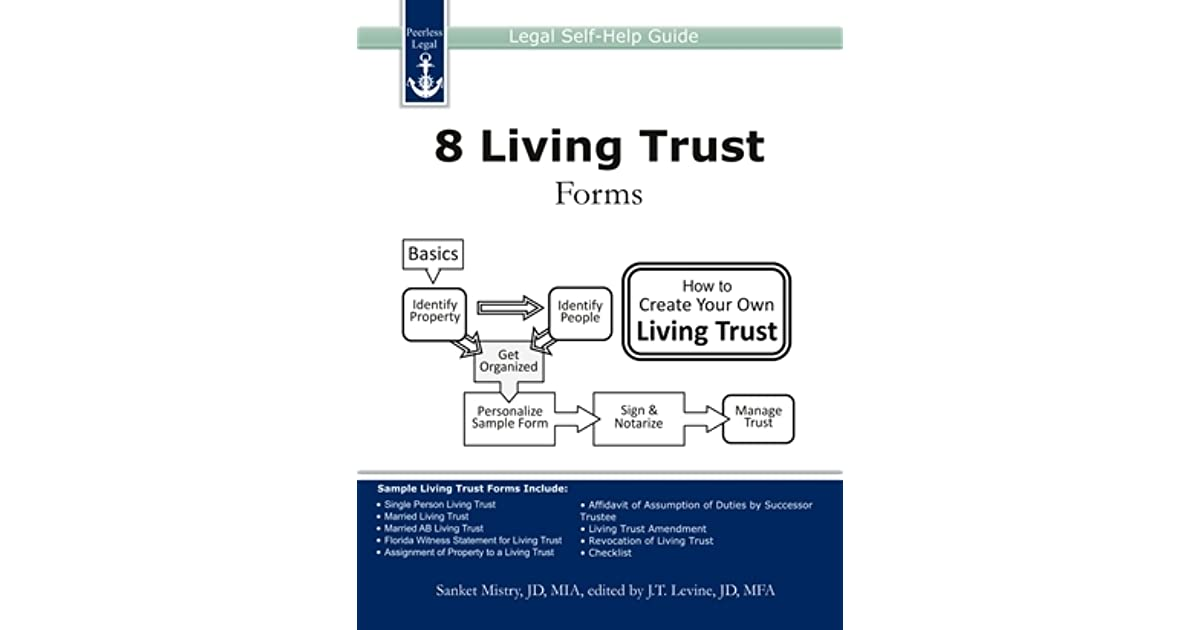8 Living Trust Forms Legal Self-Help Guide by Sanket Mistry - living trust form