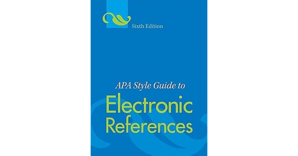 APA Style Guide to Electronic References by American Psychological