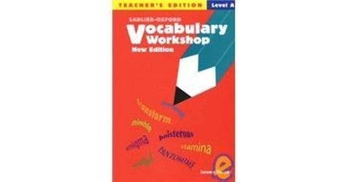 Vocabulary Workshop Level A - Teacheru0027s Edition By Jerome