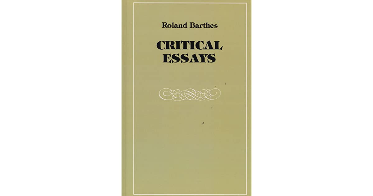 Critical Essays By Roland Barthes