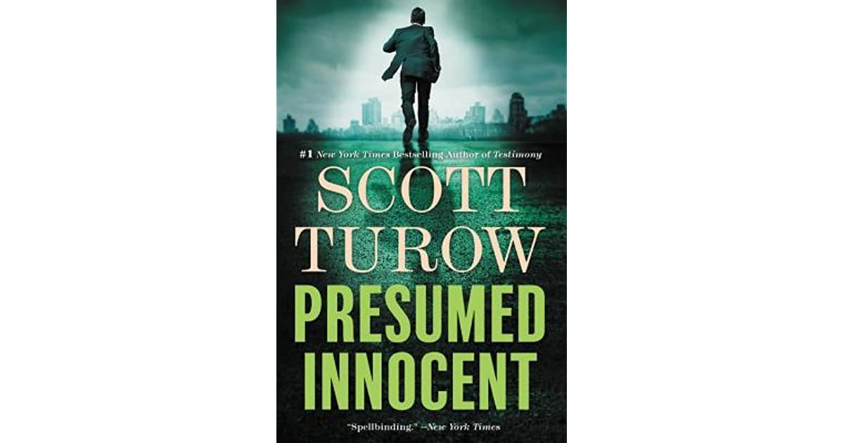 Book giveaway for Presumed Innocent by Scott Turow Apr 23-May 07, 2017 - presumed innocent book