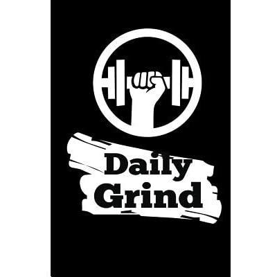 Daily Grind Blank Lined Matte Finish Black and White Gym Training