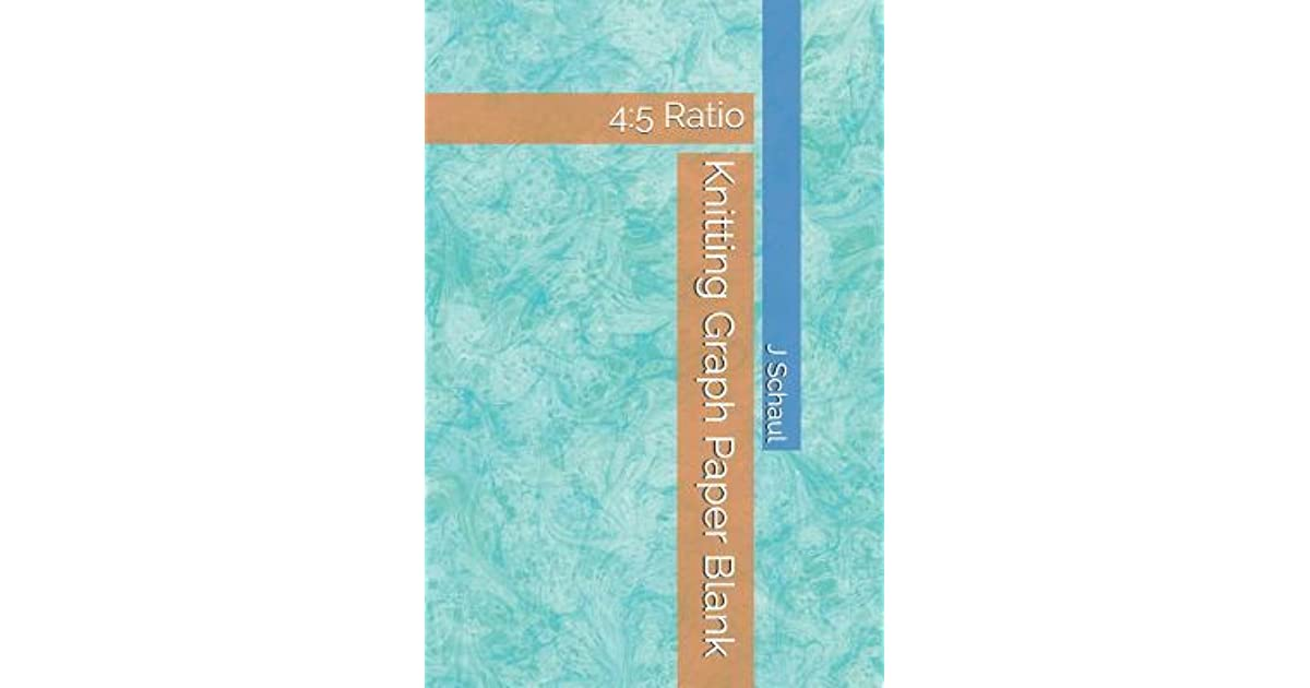 Knitting Graph Paper Blank 45 Ratio by J Schaul