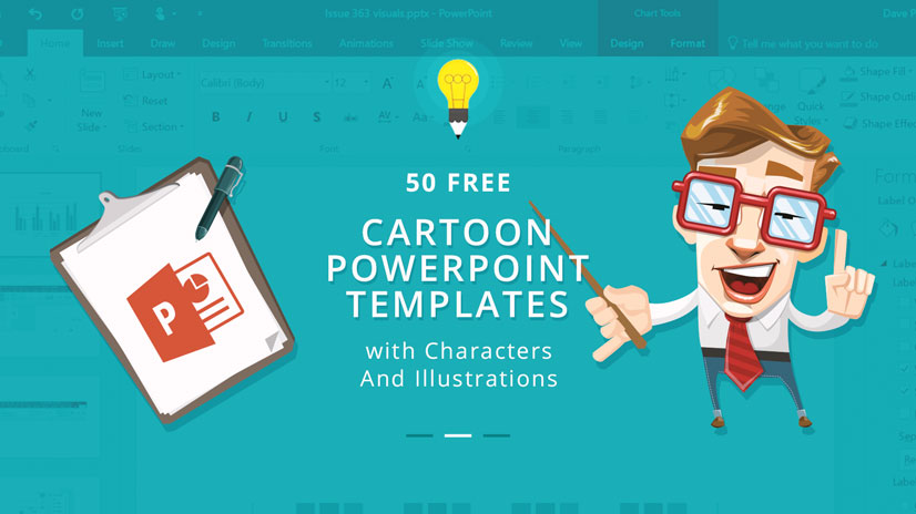 50 Free Cartoon PowerPoint Templates with Characters  Illustrations - free slide backgrounds for powerpoint
