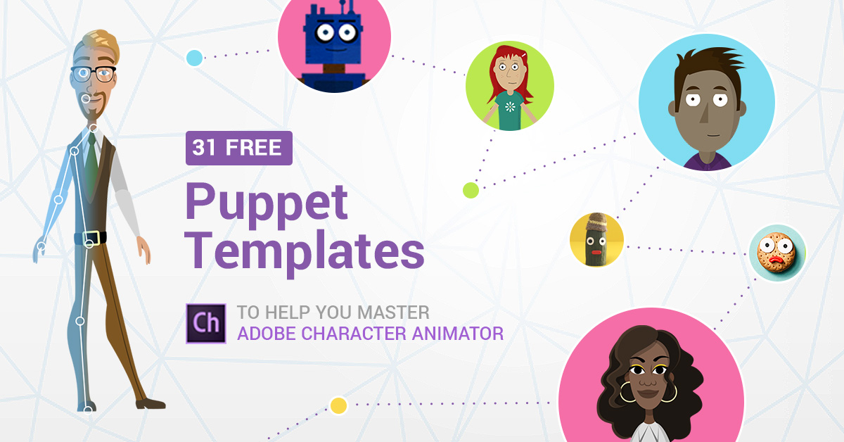 31 Free Adobe Puppet Templates to Help You Master Character Animator - puppet templates