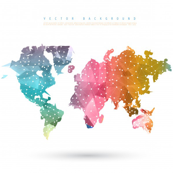 Free World Map Vector Collection 55+ Different Designs - GraphicMama