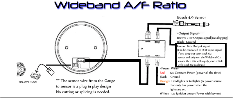 prosport wideband wiring diagram