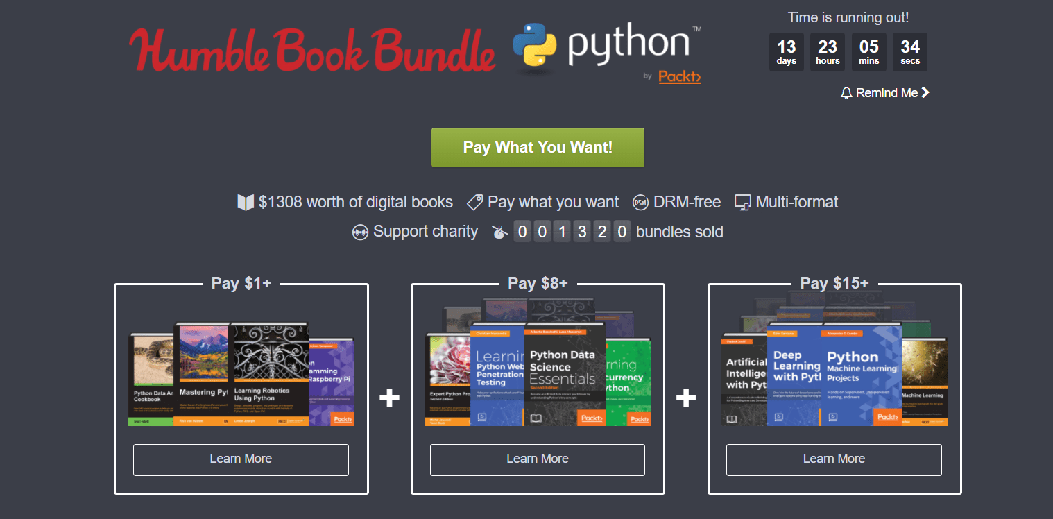 Libros Python Conjunta Humble Bundle Books Python By Packt Forocoches