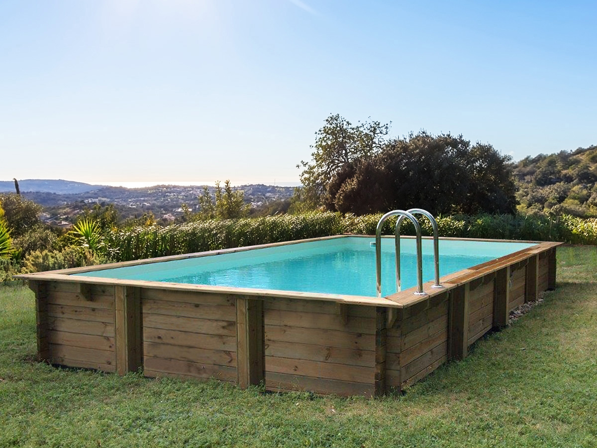 Fixation Bache Piscine Sur Terrasse Bois Piscine Bois En Kit Rectangle