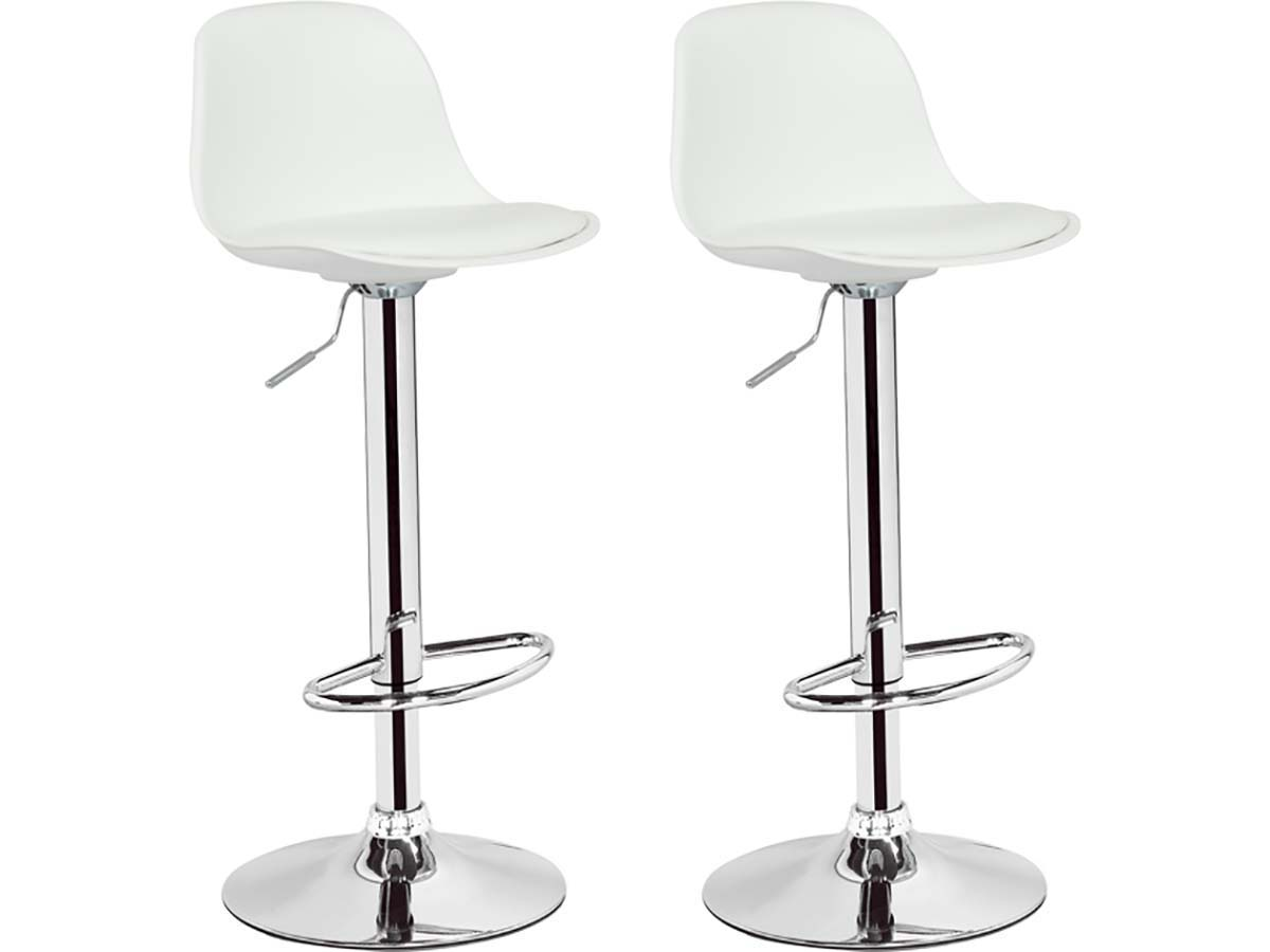 Lot De 2 Tabourets De Bar Blanc Lot De 2 Tabourets De Bar Daiquiri Blanc 85755 85757