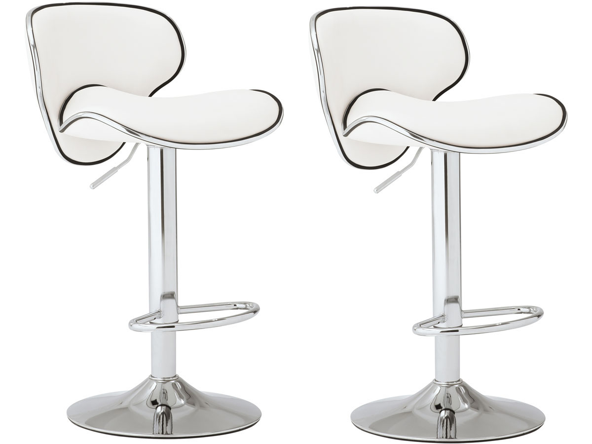 Lot De 2 Tabourets De Bar Blanc Lot De 2 Tabourets De Bar Sunrise Blanc 93356
