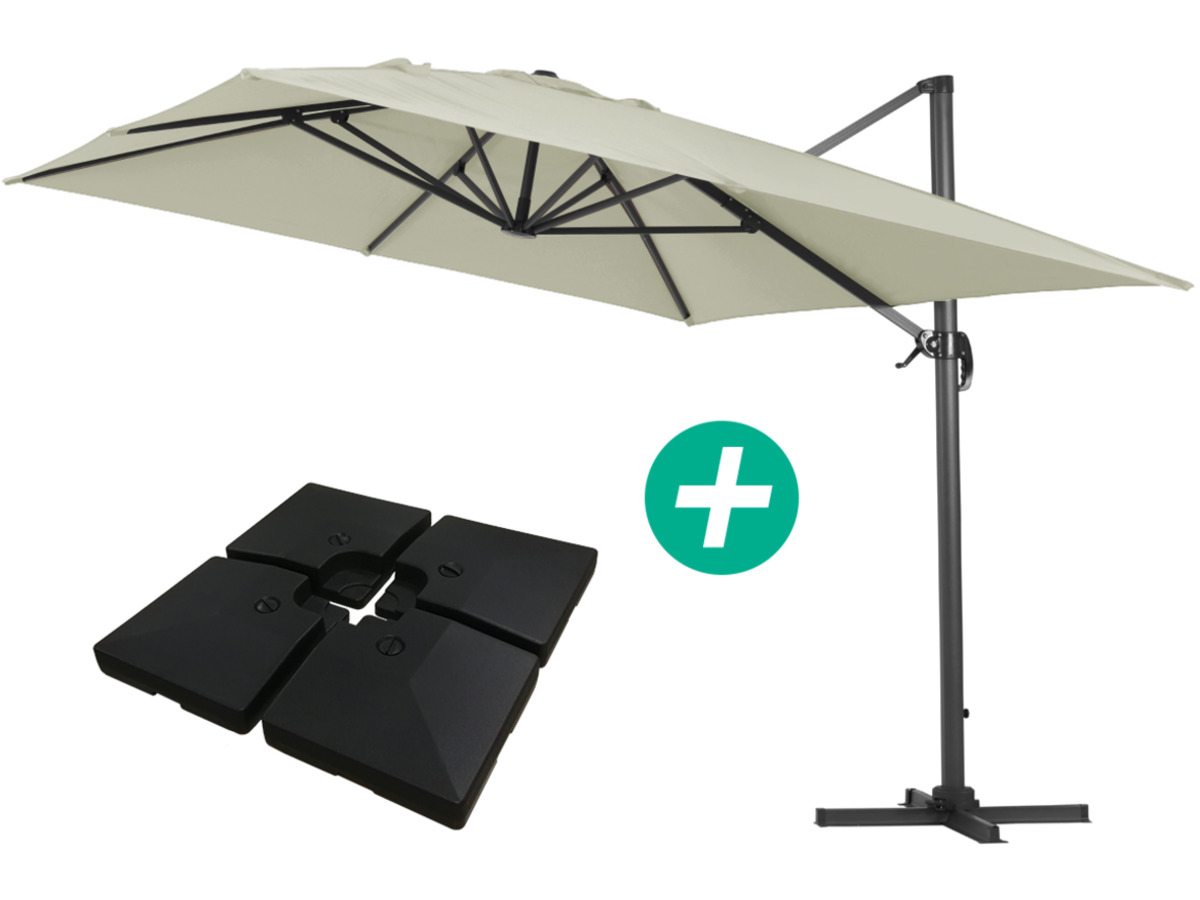 Parasol De Jardin Parasol Jardin Déporté Alu Quotsun 4 Quot Rectangle 3 X 4 M