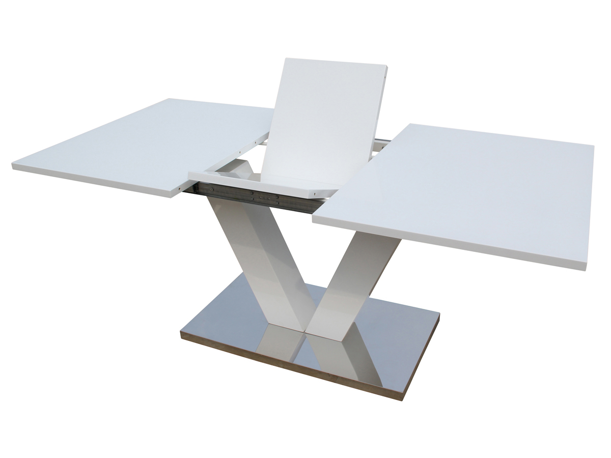 Table Pied Central Extensible Table Repas Extensible