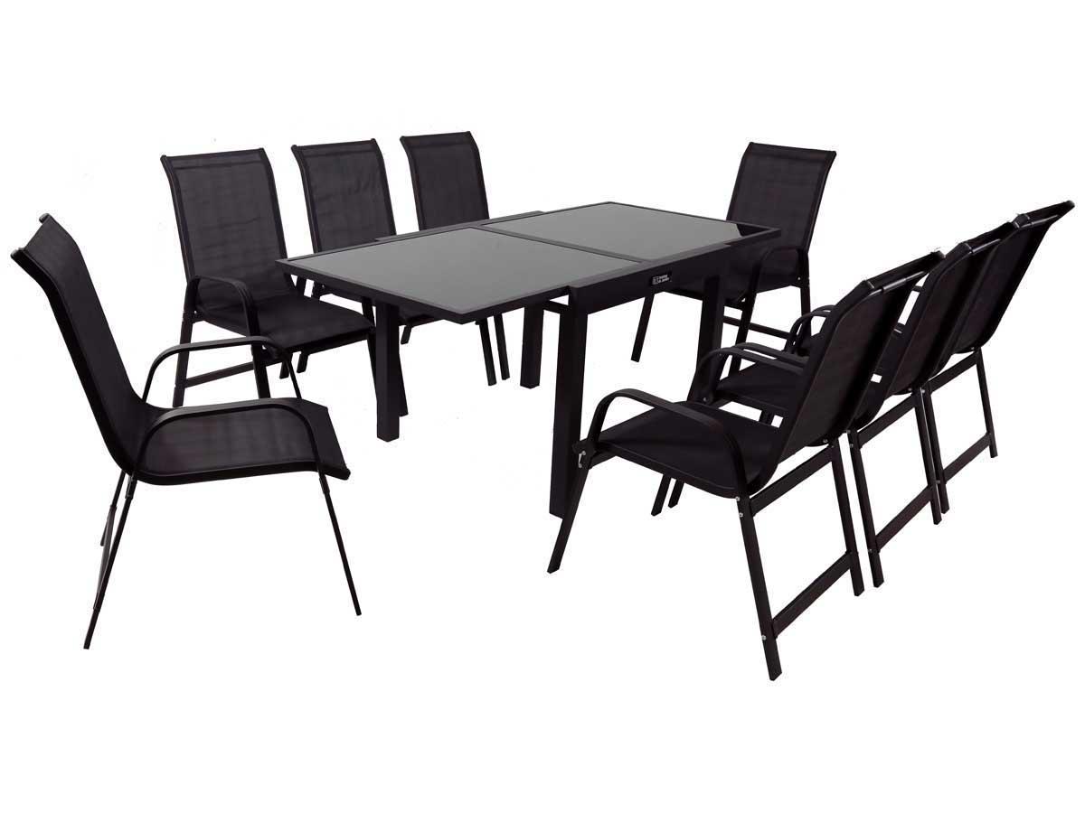 Salon De Jardin Aluminium 1 Table + 8 Fauteuils | Salon De Jardin ...