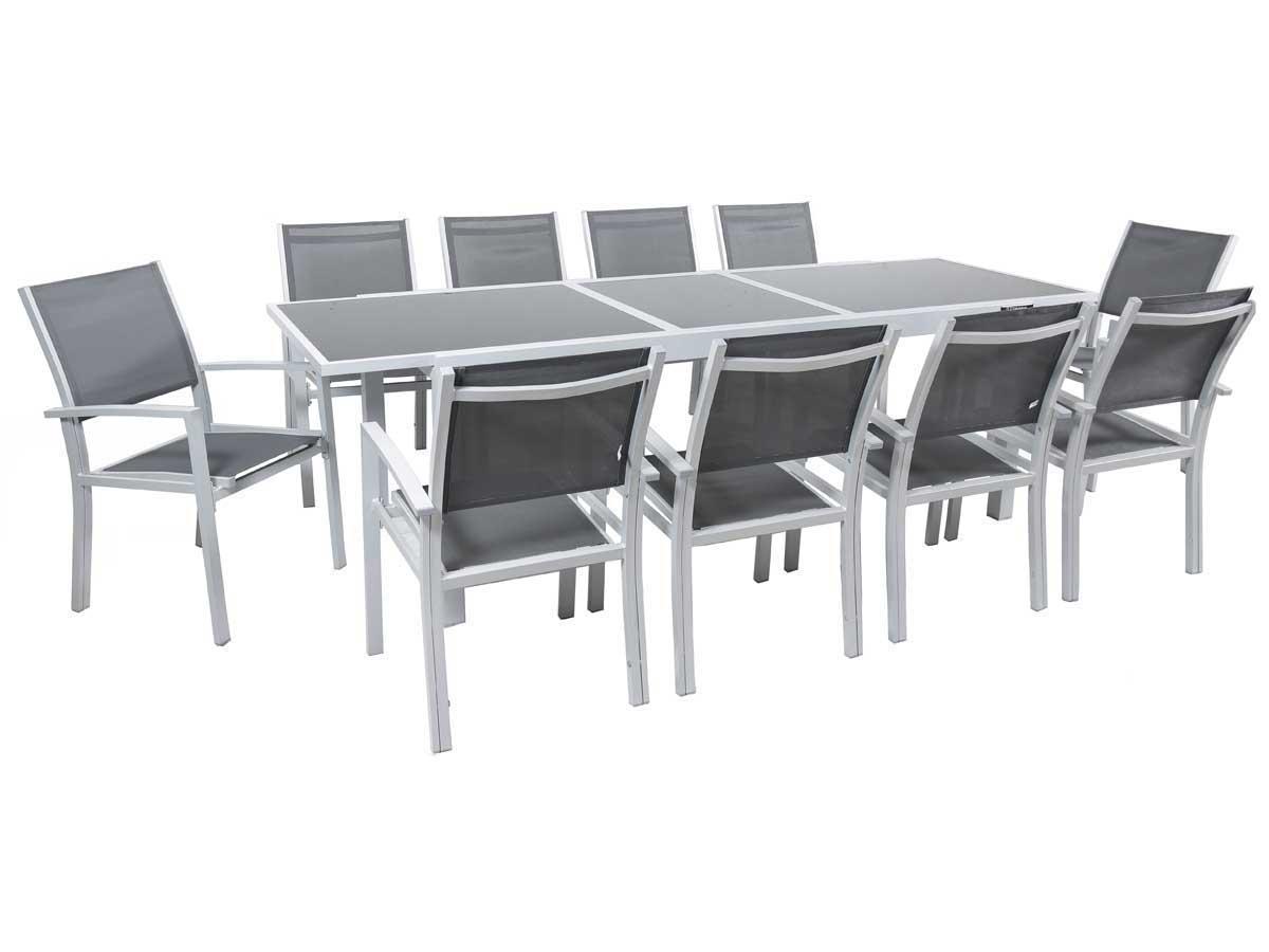 Table Et Fauteuils De Jardin Hespéride Azua Argent