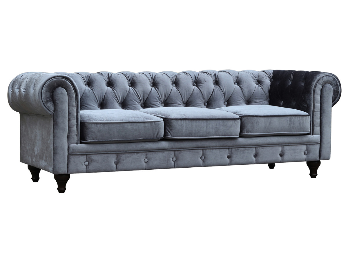 Chesterfield Velours Canapé Fixe Chesterfield Velours