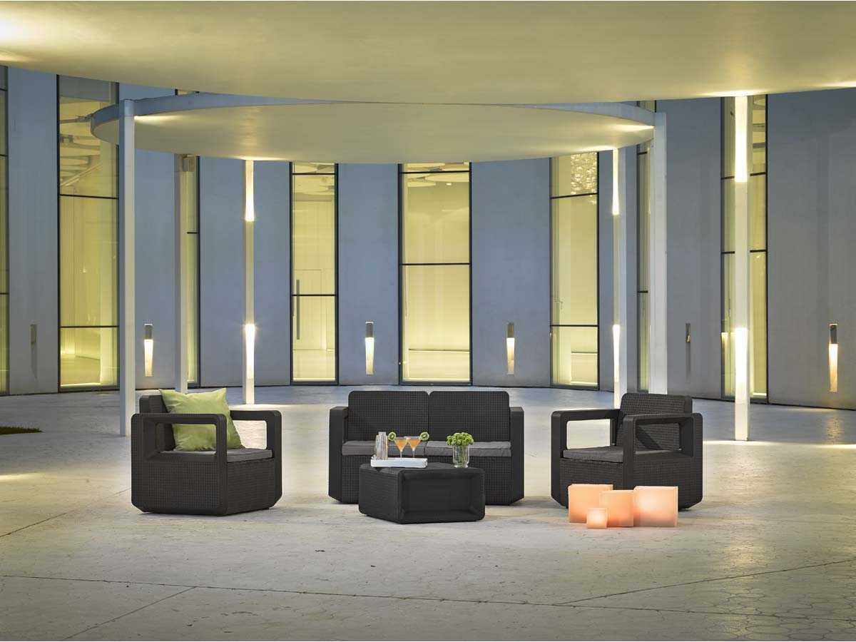 Salon De Jardin Anthracite Salon De Jardin En Résine Quotvenus Quot Anthracite 89572