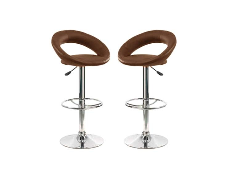 Habitat Tabourets Lot De 2 Tabourets De Bar Gordon Chocolats 52059 52062
