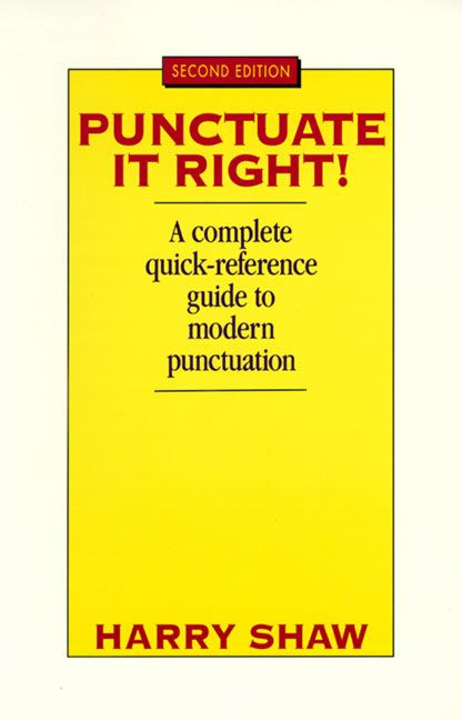 Punctuate It Right - Harry Shaw - Paperback