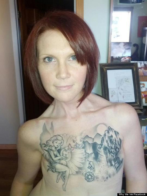 Kelly Davidson's Double Mastectomy Tattoo 'Symbolises Transformation ...