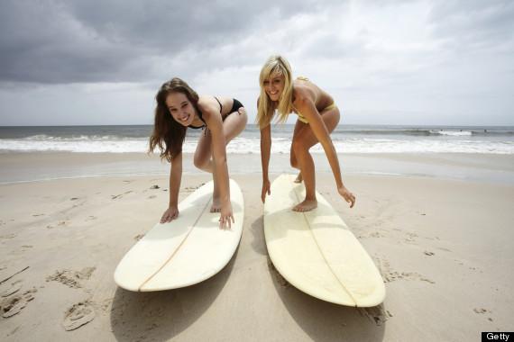 beginner surfing