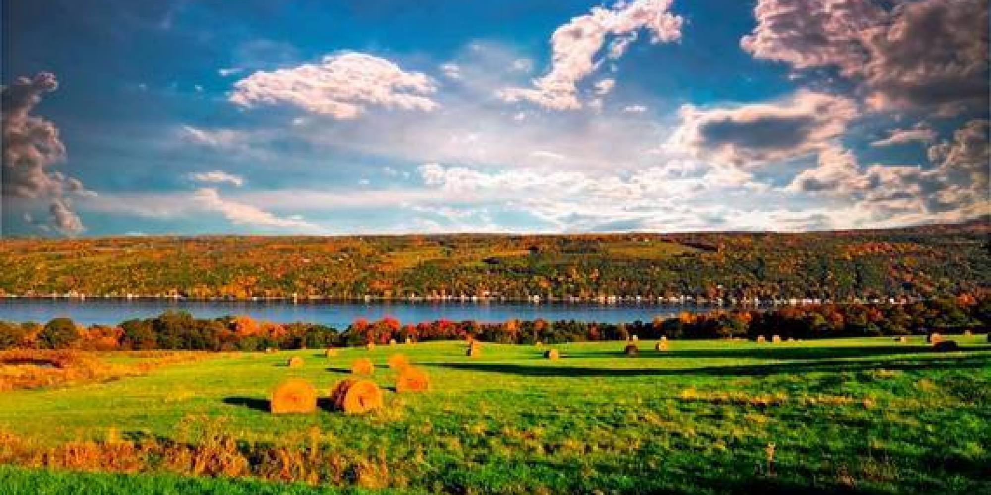 Desktop Wallpaper Fall Scenery In The Finger Lakes Sampling A Bit Of Everything